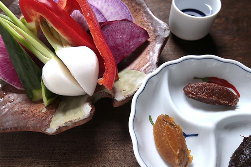 味噌と野菜