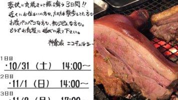 【10/31~11/2】猪丸焼きの振る舞い@神楽坂NicoChelsea【イベント予告】